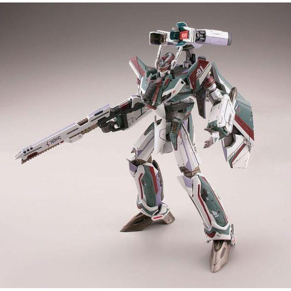 TomyTec 1/144 VF-31S Siefried Battroid Mode action pose with weapons