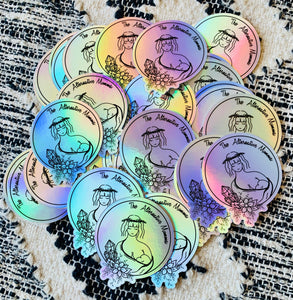 "Holographic ""Logo"" Sticker"
