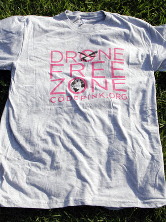Gray Drone Free Zone Tee