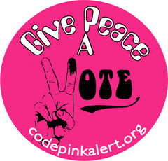 Give Peace a VOTE Buttons