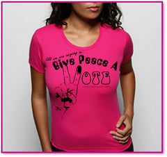 Give Peace a VOTE Woman Tee
