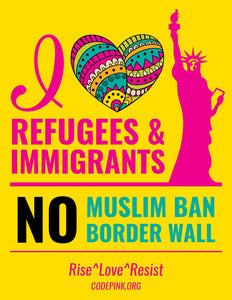 I ❤️ Refugees & Immigrants Posters