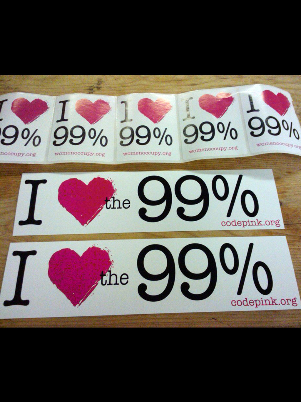 I Heart the 99% Stickers