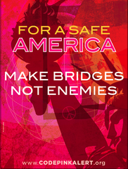 Make Bridges Not Enemies DNC '08 Poster