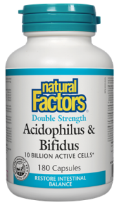 Acidophilus & Bifidus 10 Billion Active Cells · Double Strength