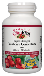 Organic CranRich® 500 mg · Super Strength Cranberry Concentrate 180 capsules