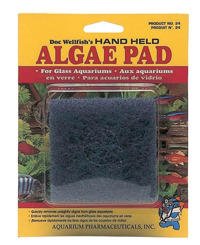API Hand Held Acrylic Aquarium Algae Cleaning Pad - Allans Pet Center