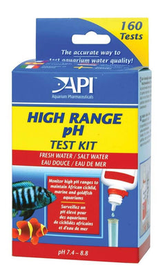 API High Range Aquarium pH Test Kit Freshwater and Saltwater 160 Tests - Allans Pet Center