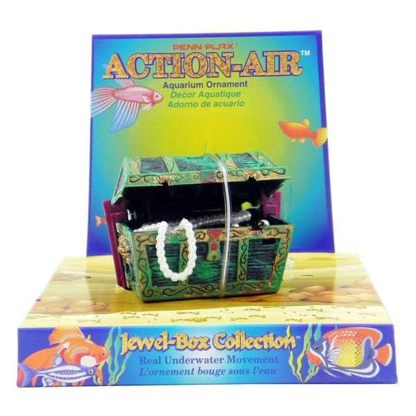 Action-Air air powered aquarium ornament (treasure chest medium) - Allans Pet Center