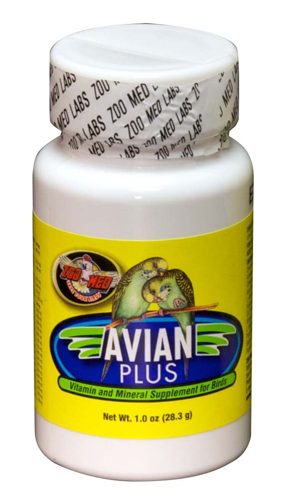 Zoo Med Avian Plus vitamin and mineral supplement