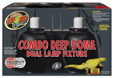 Zoo Med Combo Deep Dome (max 160w per socket, 300w combined)