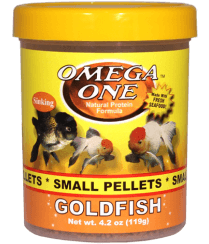 Omega One Goldfish Pellets (small) - Allans Pet Center