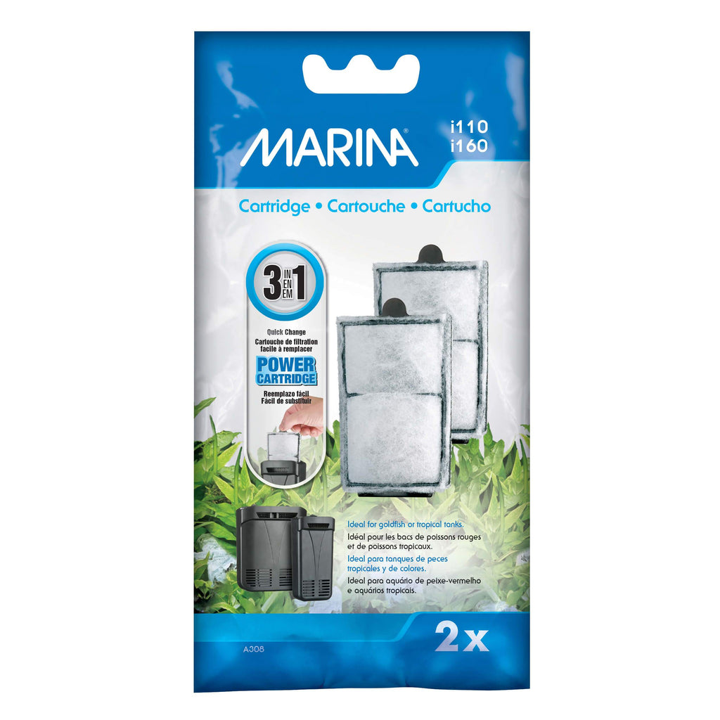 Marina Filter cartridge 2 pack for i110/i160 filter - Allans Pet Center