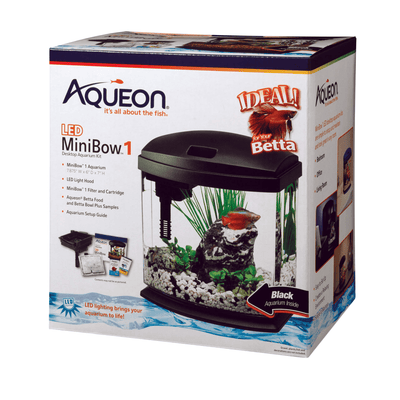 Aqueon LED Mini Bow 1 Gallon - Allans Pet Center