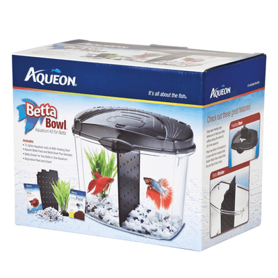 Aqueon Divided Betta Bowl Kit 1/2 Gallon - Allans Pet Center