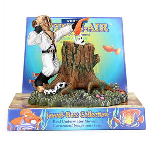 Action-Air air powered aquarium ornament (Diver with Eel) - Allans Pet Center