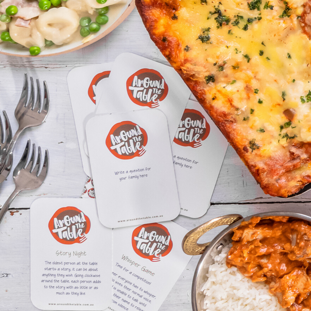 Family Dinner Conversation Cards that make mealtimes fun!