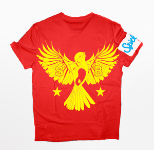 Flybird T-Shirt Yellow and Red
