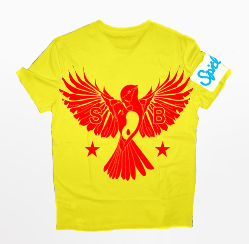 Flybird T-Shirt Red and Yellow