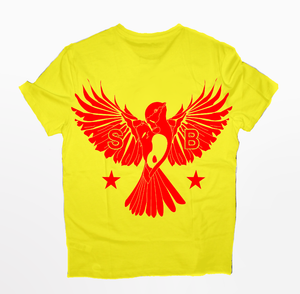 12 Flybird T-Shirt Red and Yellow