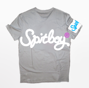 Bubbleink T-Shirt White and Grey