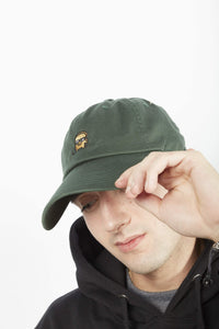DARK GREEN DAD HAT