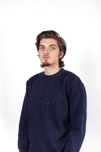 DARK BLUE CREWNECK