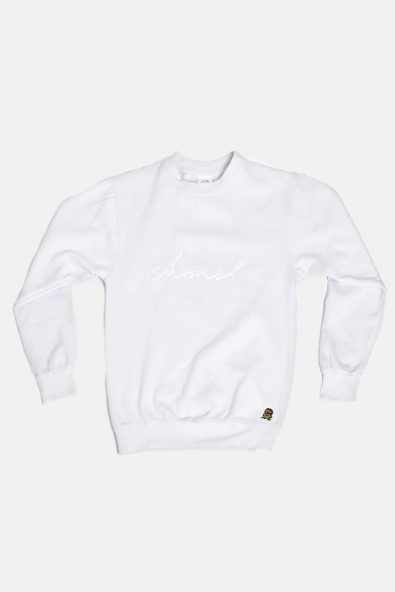 WHITE CREWNECK - Choast