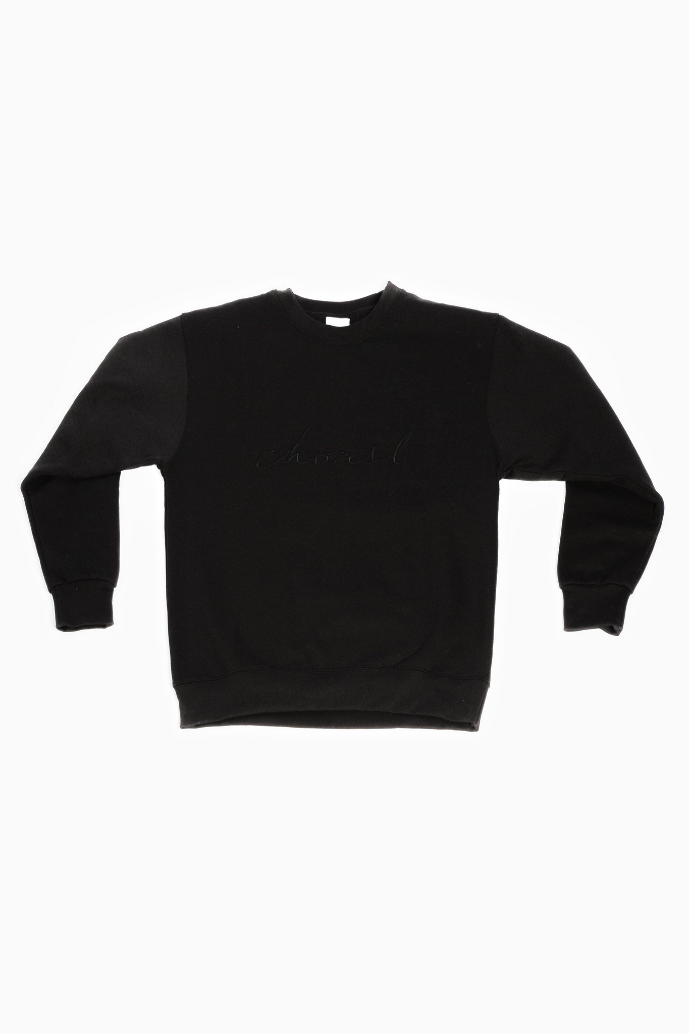 BLACK CREWNECK - Choast