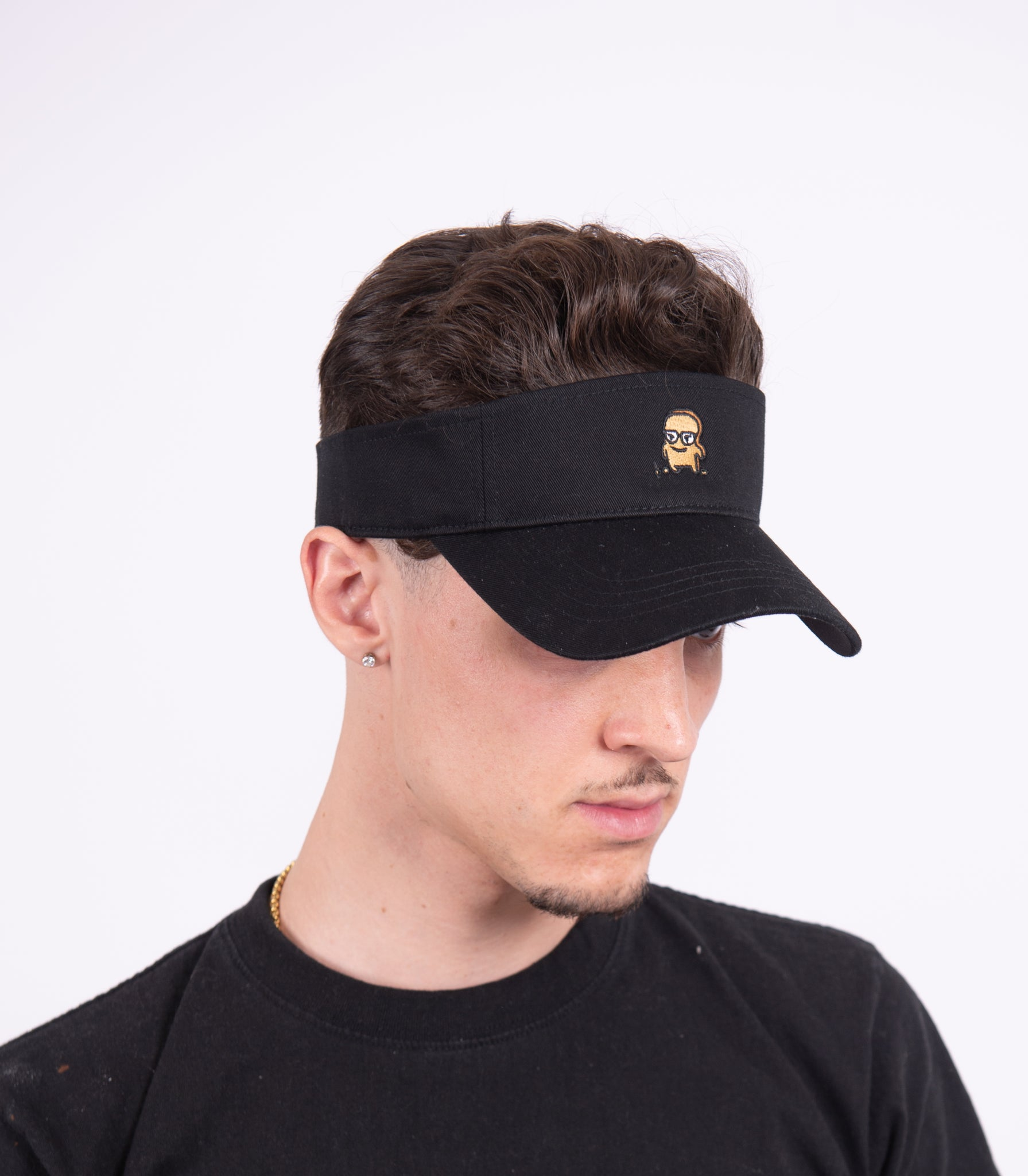 BLACK GOLF VISOR