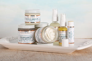 salt and seaweed infused moisturizing skin care products