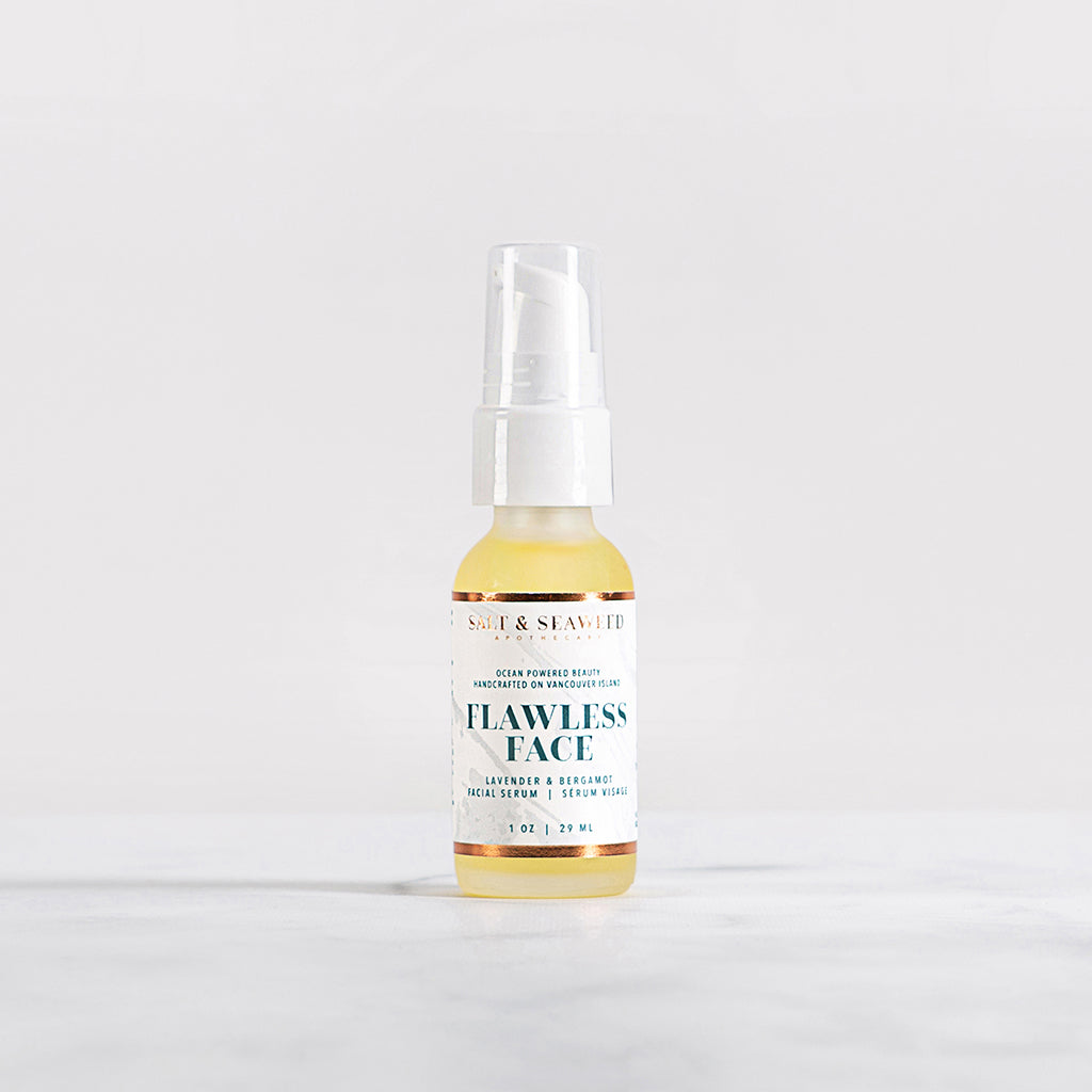 handcrafted seaweed infused flawless face renewal anti-aging serum with essential oils