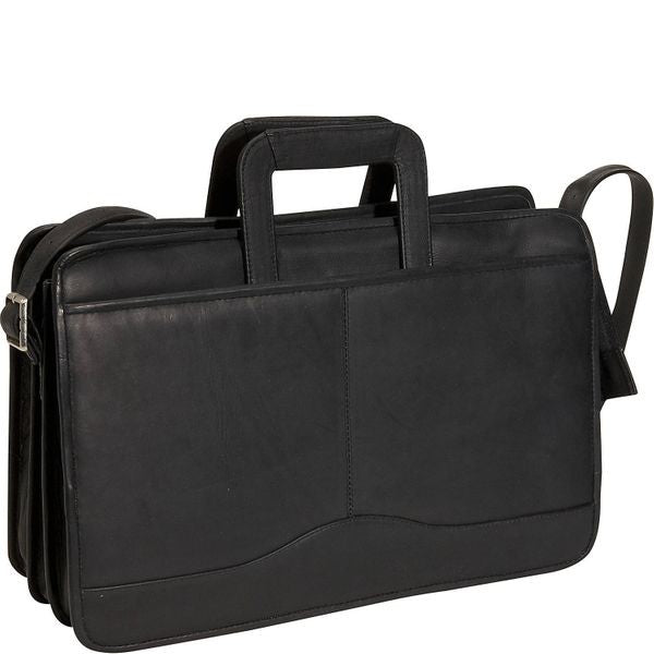 134 - Triple Gusset Drop Handle Briefcase