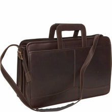 Load image into Gallery viewer, 134 - Triple Gusset Drop Handle Briefcase