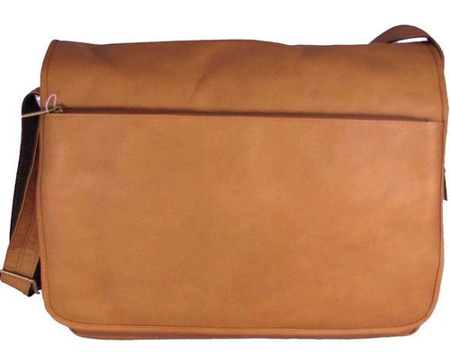 146 - Laptop Messenger Bag Zip Outside Flap
