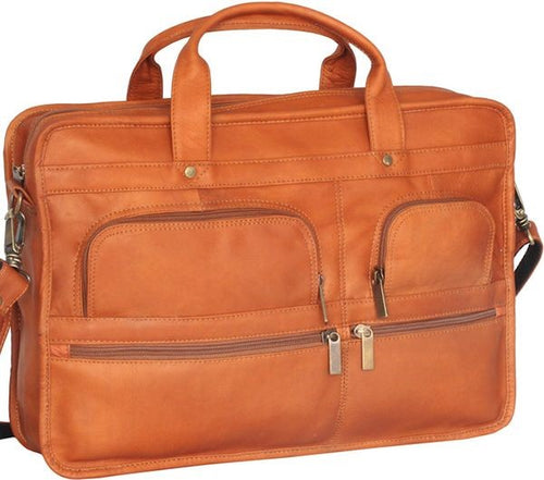 Multi Pocket Organizer Briefcase Double Gusset