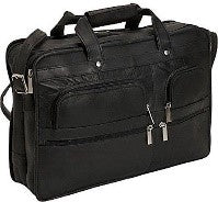 151 - Multi Pocket Organizer Briefcase Double Gusset