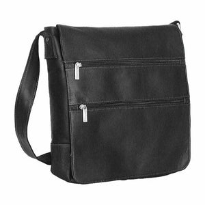 167 - MESSENGER BAG WITH 2 FRONT ZIP POCKETS