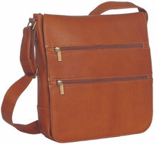 Load image into Gallery viewer, 167 - MESSENGER BAG WITH 2 FRONT ZIP POCKETS