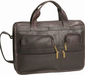 171 - Multi Pocket Organizer Briefcase, Single Gusset