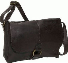 Load image into Gallery viewer, 199 - East/West 1/2 Flap Messenger Bag. With Large Ring