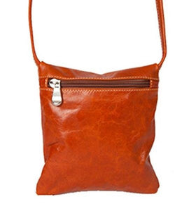 3507 -  Florentine Front Zip Mini Bag For that Italian leather look!