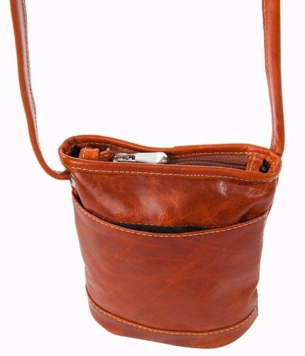 3512 - Florentine Top Zip Main Compartment Mini Bag For that Italian leather look!