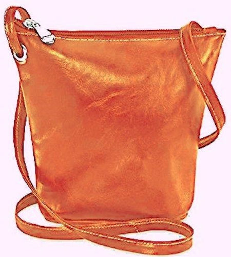 3518 - Florentine top zippered mini bag For that Italian leather look!