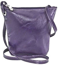 Load image into Gallery viewer, 3518 - Florentine top zippered mini bag For that Italian leather look!