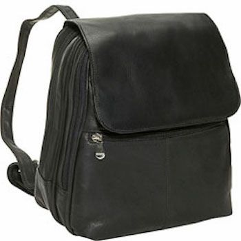 351 - Women's Organizer Leather Backpack