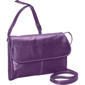 3521 - Florentine Flap Front Handbag For that Italian leather look!