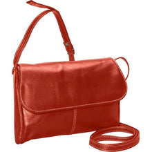 Load image into Gallery viewer, 3521 - Florentine Flap Front Handbag For that Italian leather look!