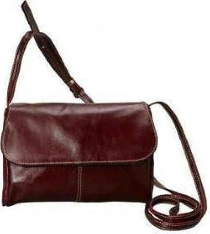 3522 - Florentine Flap Front Handbag For that Italian leather look!