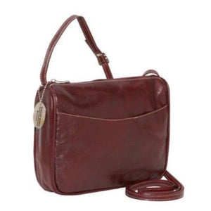 3525 - Florentine Top Zip Open Front Pocket For that Italian leather look!